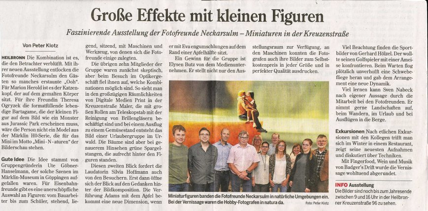 Artikel. HST zur Vernissage